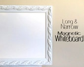 Decorative DRY ERASE BOARD for Sale Whiteboard Narrow Tall Kitchen Magnetic Artwork Display Wall Organizer Wedding Menu Home Office Tall