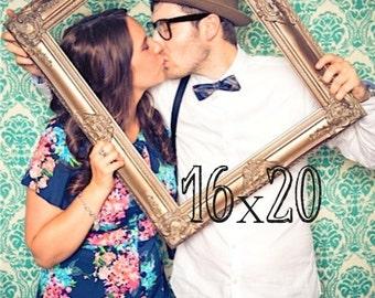 16x20 Picture Frame Wedding Photo Prop Vintage Empty Frame Restaurant Wall Decor Picture Frame Collage Wood Frame Restaurant Sign Ornate