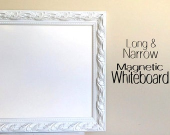 Decorative DRY ERASE BOARD for Sale Whiteboard Narrow Tall Kitchen Magnetic  Artwork Display Wall Organizer Wedding Menu Home Office