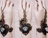 Flower locket Watch cuff