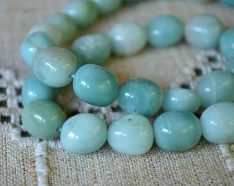 Nuggets Amazonite 10x20mm Natural Gemstone Beads 16 Inches Strand