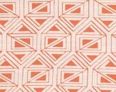 Nate Berkus Birnbeck Coral orange geometric abstract decorative designer pillow cover