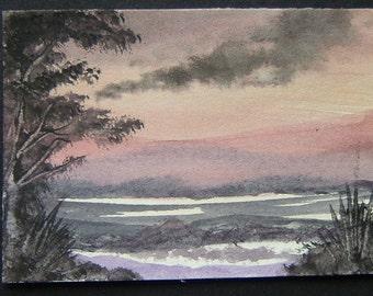 art painting aceo SFA original watercolour ref 351