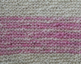 Baby Pink Hand Knit Organic Cotton Blanket