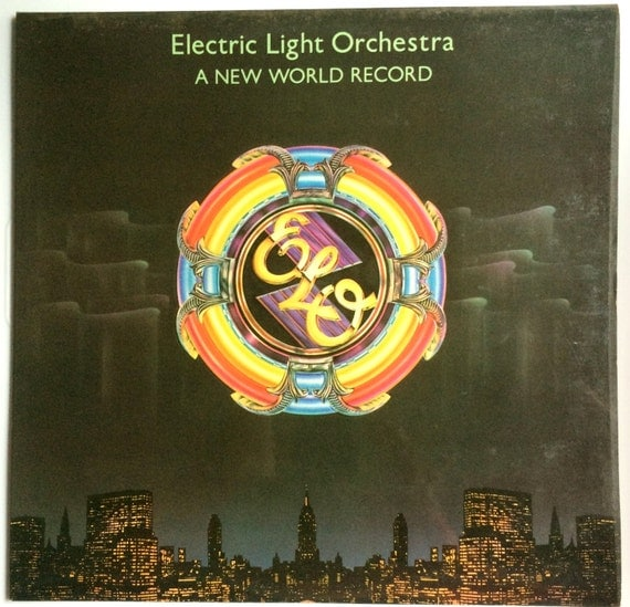 ELECTRIC LIGHT ORCHESTRA  a New World Record lp original 1976 Vinyl Record Album Laminated and Embossed
