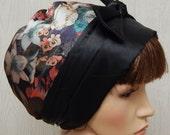Satin hair bonnet, silky head covering, Jewish tichel hair scarf, sleeping head wear, womens head scarf cap, handmade hair snood