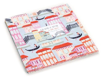 "Moda Cotton Layer Cake GRAND CANAL Cotton Quilt Fabric by Kate Spain 10"" Fabric Quilting Squares, Last One"