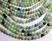 Amazonite - 8 mm round beads -1 full strand - 49 beads - RFG455