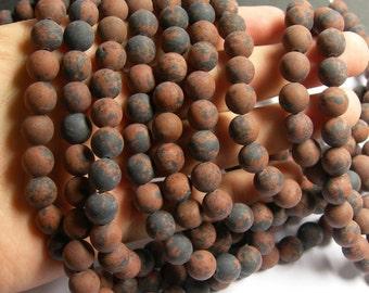 Mahogany Obsidian - matte -  10 mm A quality - 39 beads per strand - full strand - RFG507