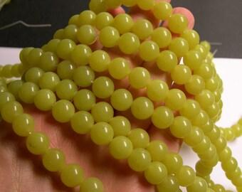 Olive Jade - 10mm round beads - 1 full strand - 40 beads per strand - AA quality - RFG801