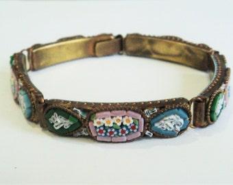 Vintage Micro Mosaic Bracelet... Italian