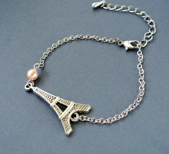 eiffel tower bracelet eiffel tower pendant by iceblues