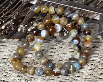 Single 8mm round agate nugget stone beads ,agate semi-precious stone beads,agate gemstone beads loose strand