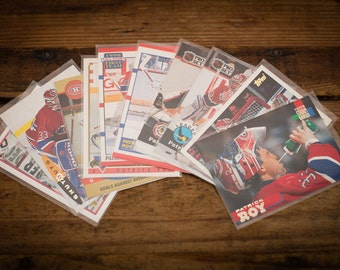 Patrick Roy Lot of 10 Hockey Cards, Montreal Canadiens, Vintage 90s