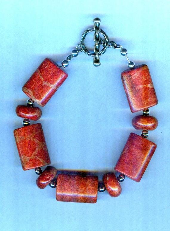 RARE Red Sponge Coral One of a Kind Bracelet!