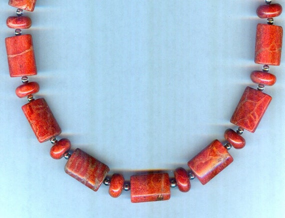 RARE Red Sponge Coral One of a Kind Necklace!