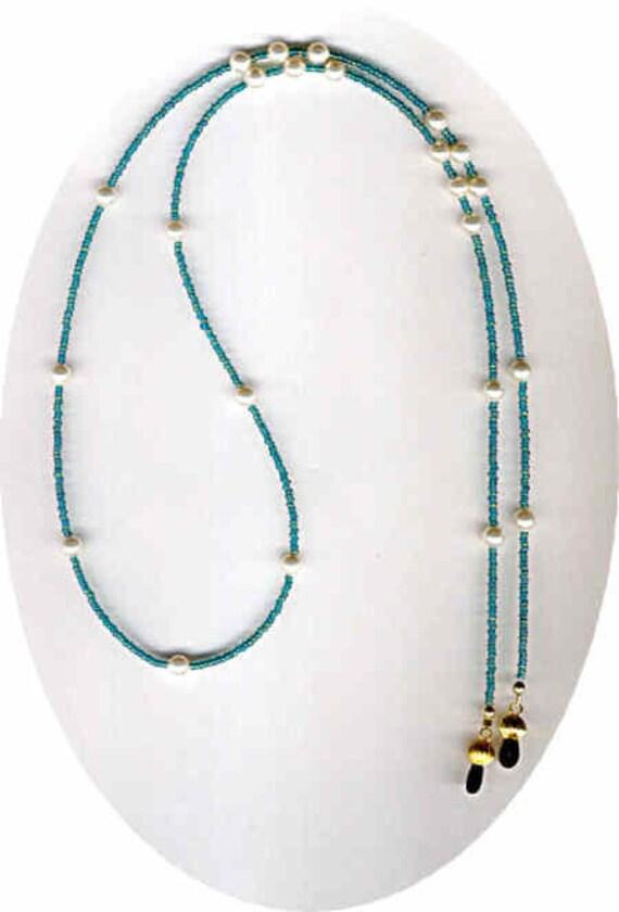 Freshwater Pearls and Vintage Czech Seedbeads Beaded Eyeglass Chain or ID Badge Lanyard