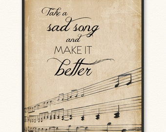 Take a Sad Song and Make It Better • Art Print • The Beatles Hey Jude