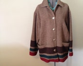 Ralph Lauren 80s Blanket Coat - Men's Small or Women's Large