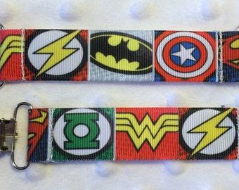 Superhero mitten clips