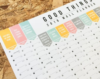 2016 Good Things Wall Planner