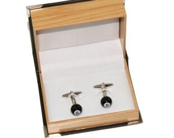 Men's Novelty 8 Ball Cufflinks and Gift Box