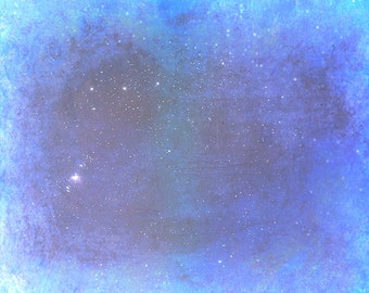 Orion's Belt and Nebula Mixed Media Print 8x10