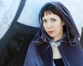 """Arwen """"Requiem"""" Inspired Cape, Lord of the RIngs Elven Fantasy Cosplay Cloak with Butterfly Brooch"""