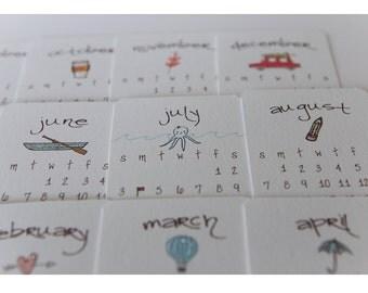 2016 Calendar Printable* Mini Doodle