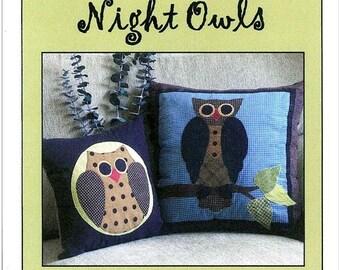 Bella Moon Night Owls Pillow Pattern Pattern
