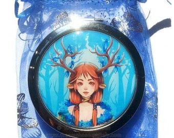 Compact Mirror Fantasy Deer girl