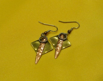 I'm too funky for my gold and copper earrings (Style #330C)