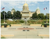 Iowa Capitol Building-Photo Print-Des Moines Architectural Photo-American Government Seat 8x10 11x14