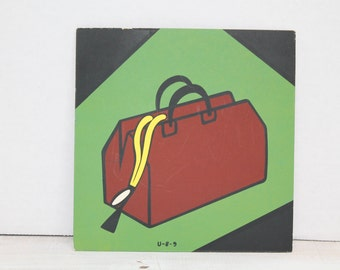 Vintage 1960's Advertising, Comic, Art, Presentation Materials, Doctor Bag