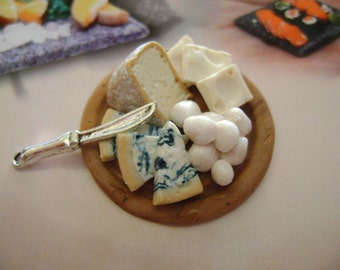 Dollshouse food 12th scale, tray cheese , miniatures food