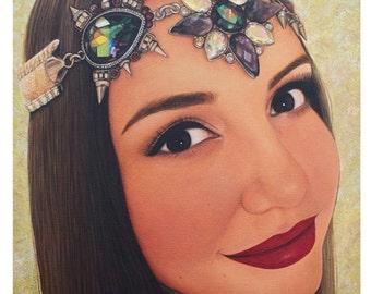 Self Portrait - Beauty Art - By Toronto Portrait Artist Malinda Prud'homme