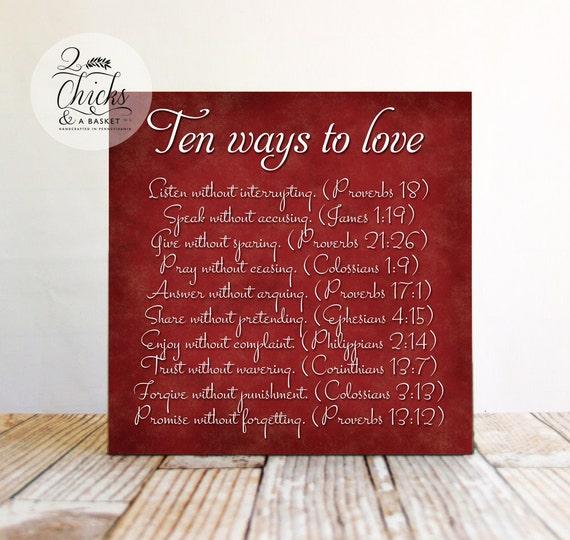 Ten Ways To Love Sign-4123