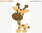 SALE INSTANT DOWNLOAD Giraffe Baby Machine Embroidery Design