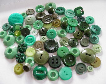 Lot of Green Buttons