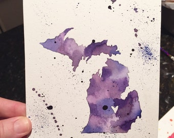 State Sillouette Watercolor 18x20