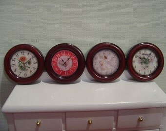 Miniature Dollhouse French Country Chic Clock One Inch Scale 1:12