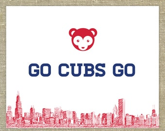 "Chicago Cubs ""Go Cubs Go"" song 8 x10 inches wall art; baseball art"