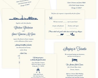 Icon Skyline Toronto wedding invitation suite; SAMPLE ONLY; available in more skylines