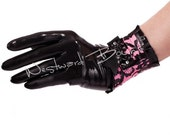 Rubber Latex Bordelle-L'Amour Wrist  Gloves - Westward Bound R1573 MADE/DESIGNED UK