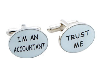 Silver Accountant Cufflinks 1200148