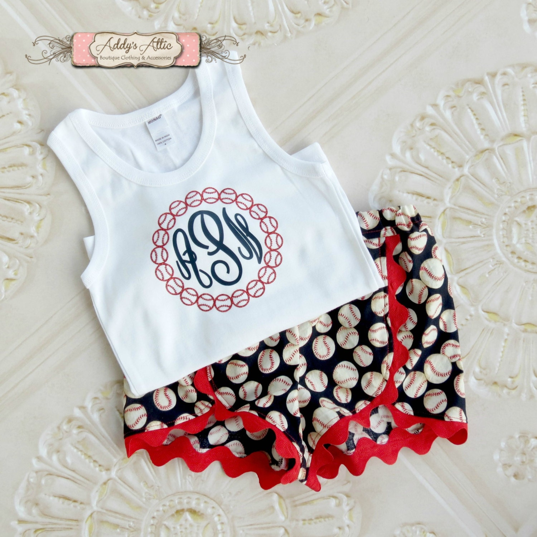 Baseball Outfit Girls Baseball Outfit Baseball By AddysAtticOnEtsy
