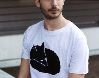 Fox Men T-Shirt Organic & Fair Wear_ white melange