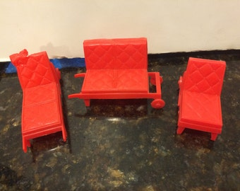 Vintage Doll House 3 Piece Patio Furniture