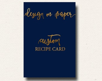 Custom Recipe Card