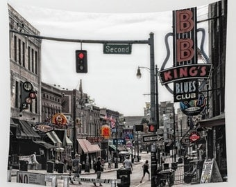 Wall Tapestry Wall Hanging Wall Art Beale Street Memphis Tennessee Street Scene